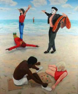 Games People Play | 1986 Oil on Canvas | 180x150cm