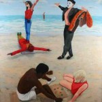 Games People Play 1986 Oil on linen 180x150cm