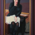 Smoking Woman 1996 Oil On Board 50x35cm