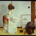 Tea Ceremony 1976 Oil On Linen 55x80cm