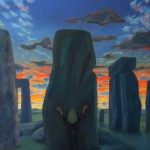 Entry to the Stones 1994 Oil on linen 99x77cm