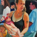 Mother and Infant 2003 Oil on board 63x43cm