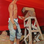 Moroccan Docker 2003 Oil on board 80x52cm