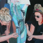 Body Painting WAP 2012 Oil on Board 40x58cm